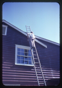 Dad Painting House
